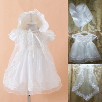2015 Baby Girl Dress White Mesh Baptism Dress For Infant Girls Clothes For Newborn Baby Girls