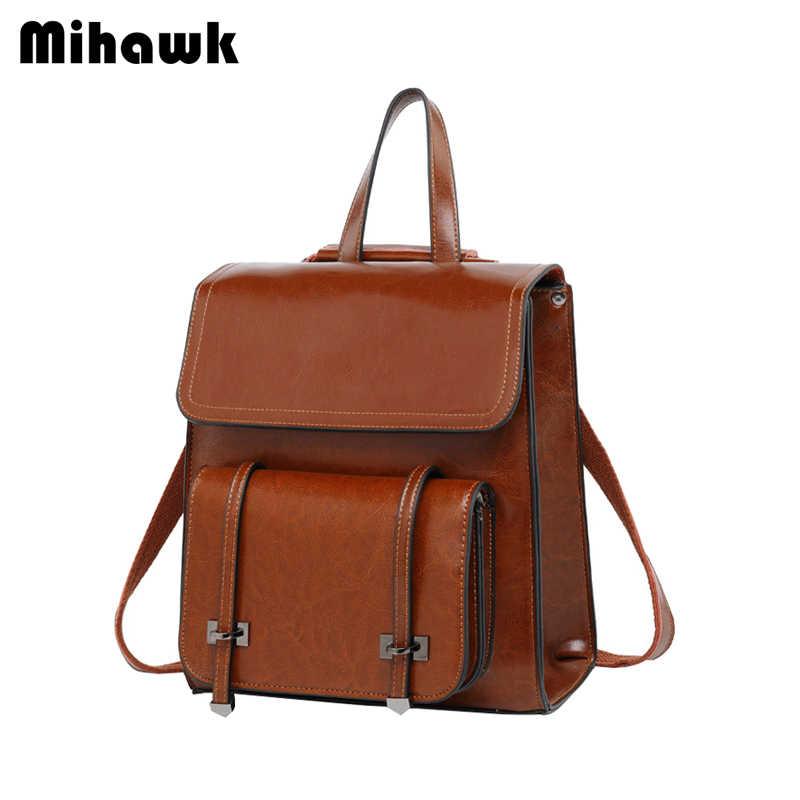 Miahwk Модные женские рюкзаки высококачественный Молодежный коровья кожа подростковые школьные сумки для девочек женские школьные плечевые принадлежности для больших сумок