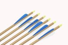Longbowmaker 12PCS 33 Inches Fiberglass Target Practice Arrows WFG2