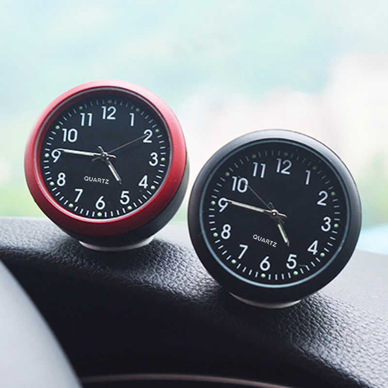 Reloj de coche, termómetro de automóviles, reloj Digital interno automático, Luminova mecánica, reloj de cuarzo, adornos, accesorios para Estilismo de coche