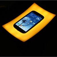 Free Shipping 1 Piece Magic Tray Lamp LED Intelligent Bedside Lamp Sensor Night Light Desk Lamp