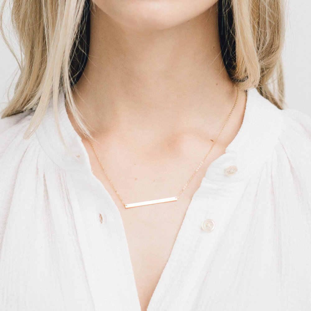 女性ネックレスミニマリスト声明 goldplated 珍味チョーカーネックレス女性のためのパンクステンレススチールチェーンネックレスジュエリー