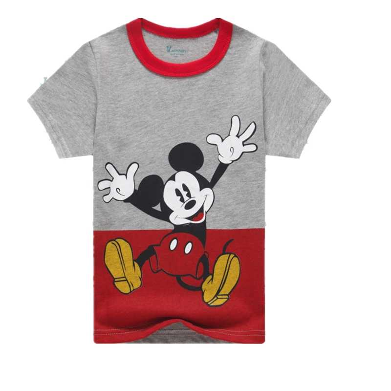 Mouse T-shirt for Kids Clothing Boy's Popular Hero T Shirt  Minnie T-shirt Cute Girl Top Short-sleeved Clothes for 2-12Y