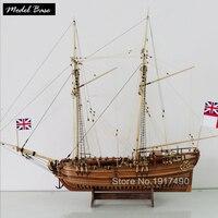 Wooden Ship Models Kits Diy Educational Toy Model Boats Wood 3d Laser Cut Scale 1/50 Hobby Halifax 1768 Resolution Full Rib Kit