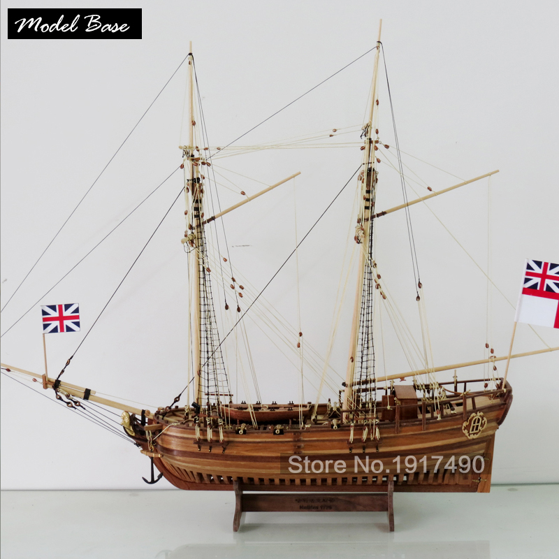 Wooden Ship Models Kits Diy Educational Toy Model Boats Wood 3d Laser Cut Scale 1/50  Hobby Halifax 1768 Resolution Full Rib Kit attache французская обжарка кофе молотый 250 г