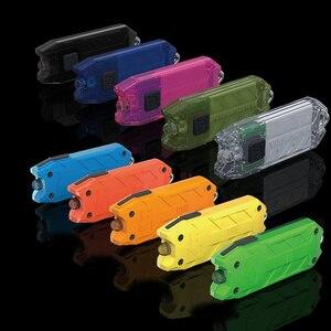 NITECORE Tube Portable Light Micro-USB Rechargeable EDC Pocket Flashlight Waterproof Mini Size Light weight 10 Colorful Key Lamp(China)