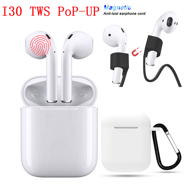 1d834ad9b86 I30 TWS Bluetooth 5 0 Earphones 1 1 Air Replica Pop Up Wireless Earphone 6D  Super
