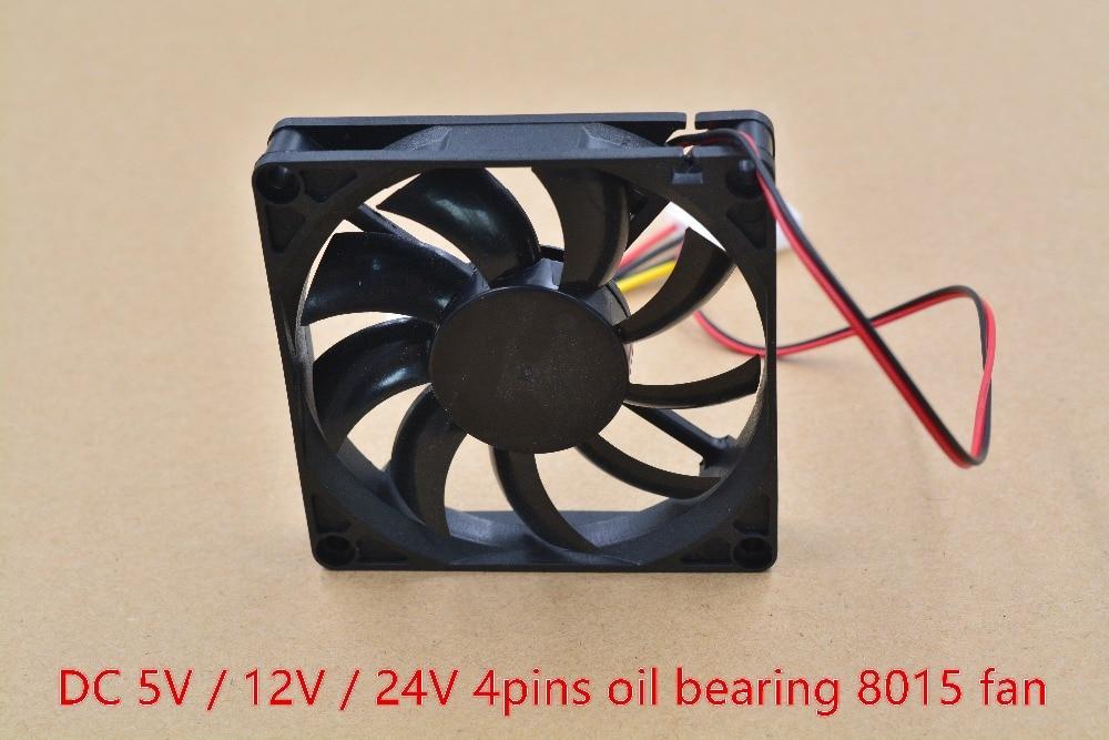 3d Printer Fan 8015 Fan 4pins 80mm 80mmx80mmx15mm 8cm Graphics Card Fan DC 5V / 12V 1pcs