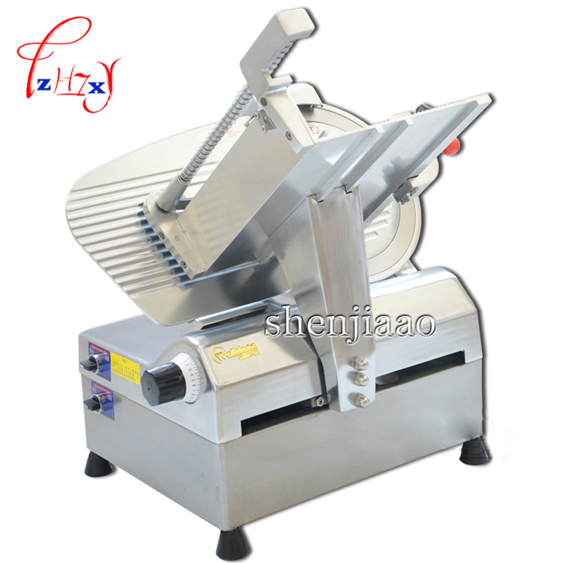 220V Automatic cut meat machine WED-B300A-1 Automatic Restaurant 12 inch meat slicer pork hot dog slicer commercial slicer meat slicer electric meat slicer cut pork cut vegetables stainless steel diced machine automatic