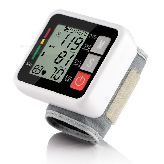 2016HOT Best quality wrist digital blood pressure monitor portable sphygmomanometer LCD display tonometer health diagnostic-tool