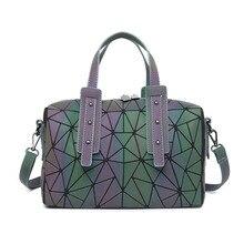 New Arrival Luminous Geometric Womens Handbags Pillow Shoulder Bag Boston Handbag Crossbody for Women