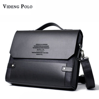 VIDENG POLO Fashion Rivet Leather Messenger Bags For Men Already Set Bag Business Men Briefcase Bag