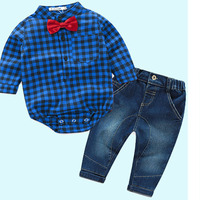 The Boy S Costume Suit For The Fall Of2017 Fashion Style Baby Clothes Plaid Shirt Cowboy