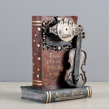 Desk Decorative Ancient Book Piggy Bank Music Box Birthday Gifts Quality Classical Music Box for Child's Gifts Desk Top