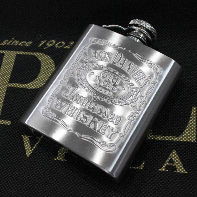 Free Shipping 1 X 3 Ounces Stainless Steel Hip Flask Leather Surface Portable Outdoor Hip Flask For Gentleman Gift
