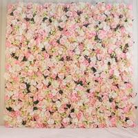 2M x 2M Top quality hot pink very dense artifical silk roses wedding flower wall flower backdrop Wedding decoration