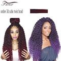 22inch 3D cubic twist braiding hair Freetress Crochet Braids Tresse Havana Mambo Twist Crochet Afri Naptural Ombre Crochet Hair