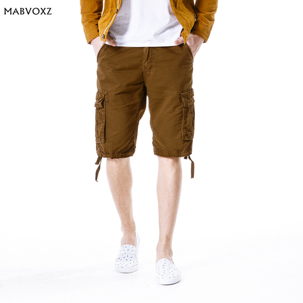 Mutil Pockets European and American New 2018 Mens Shorts Plus Size Loose Half Short Male Casual Cargo Bermuda Masculina Clothes