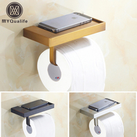 5 Colors Free Shipping Brass Paper Holder Bar Roll Paper Towel Rack Wall Mounted Bathroom Kitchen Paper Rack