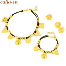 New Ethiopian Jewelry Gold Color Rope Sets for African /Ethiopia /Eritrean Women wedding jewelry sets