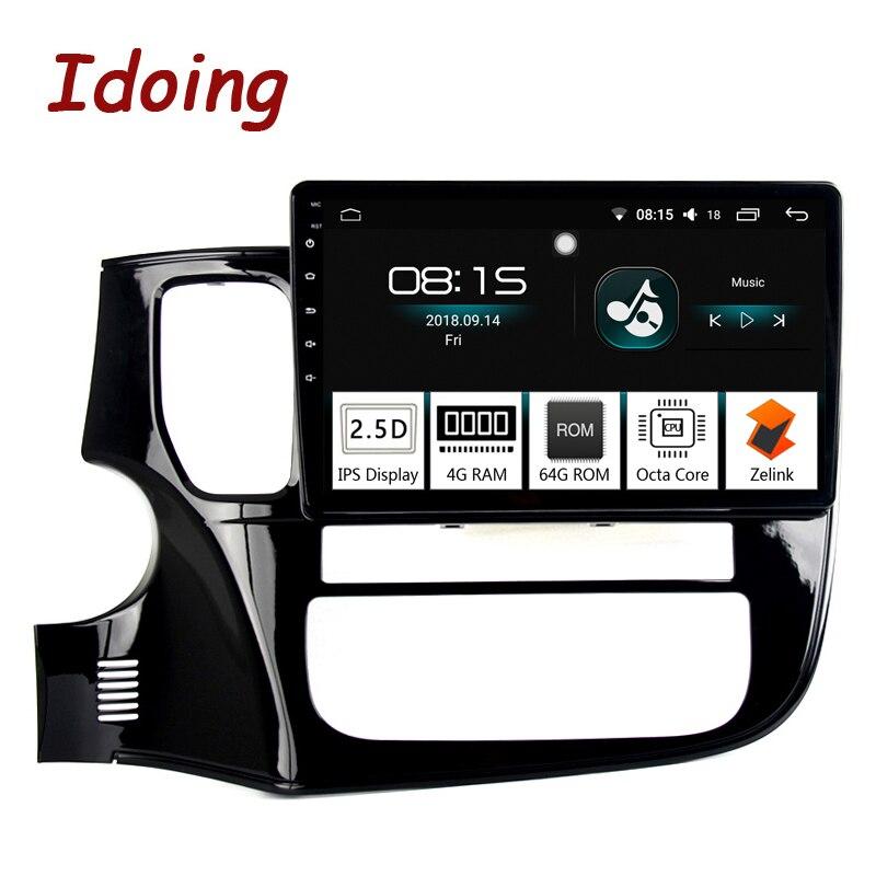 Je fais 10.2 4G + 64G 8 Core Voiture Android 8.0 Radio lecteur Multimédia Fit Mitsubishi Outlander 2014- 2017 2.5D IPS navigation gps PX5
