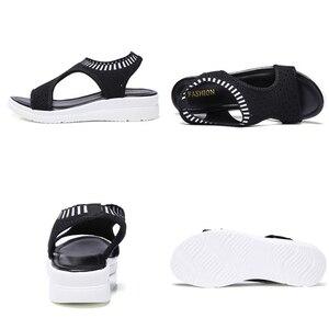 Image 5 - STQผู้หญิงรองเท้าแตะ 2020 รองเท้าแตะรองเท้าผู้หญิงฤดูร้อนWEDGEรองเท้าแตะสุภาพสตรีรองเท้าแตะSlingbackผู้หญิงSandalias QS808