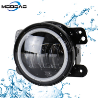 Modoao 2pcs LED Vehicle Fog Lamps 30W 4 inch SUV Fog Lights Angel Eyes LED Truck Fog Lights 6000K Waterproof Lights