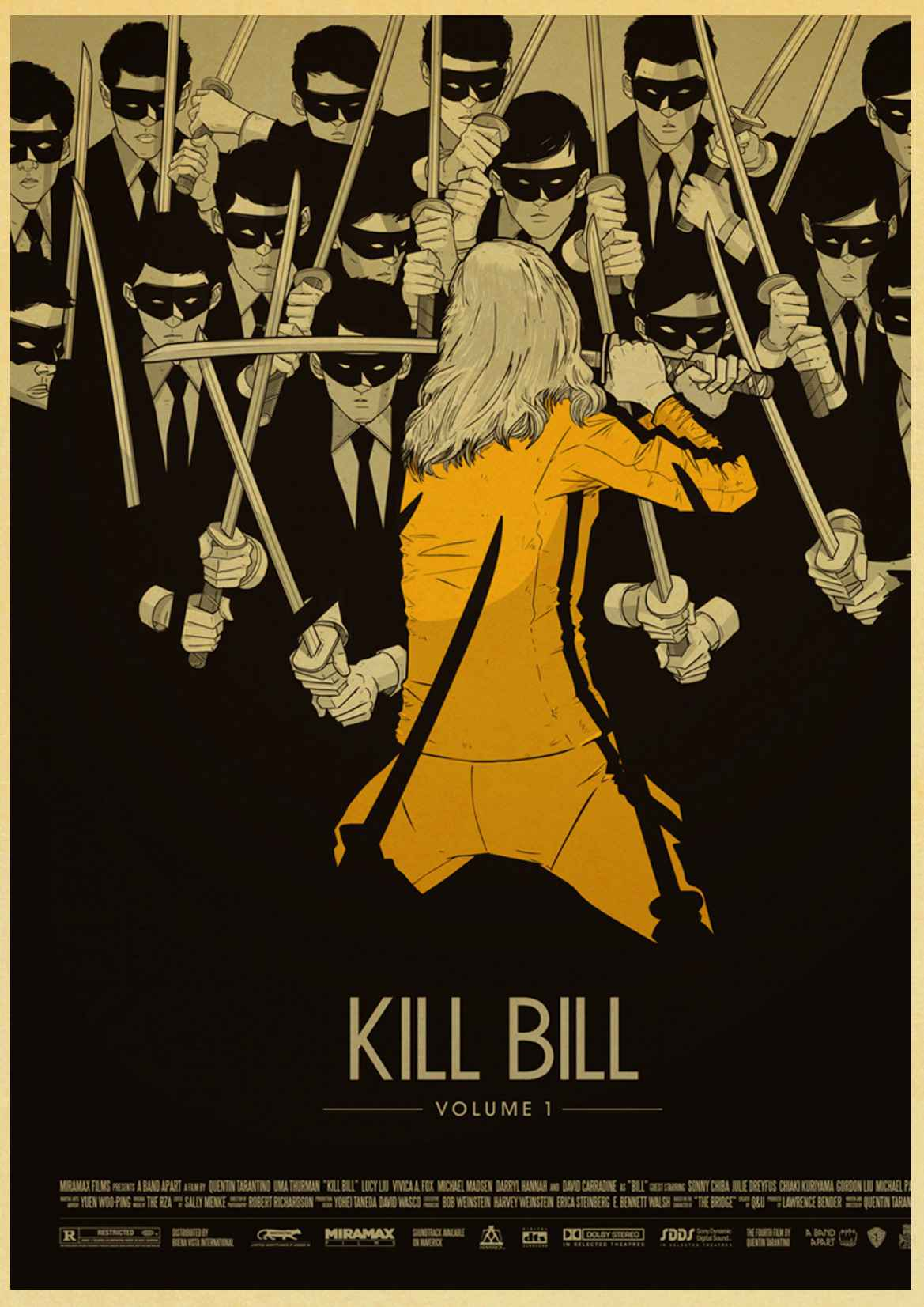 US $1 83 16% OFF|Vintage Kill Bill Vol 1/classic Quentin movie posters home  decora kraft paper High Quality Printed Painting wall stickers-in Wall