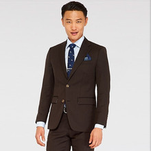 wedding suits high quality tuxedo brown formal wear groom suit classic dress wool beed tailor suit