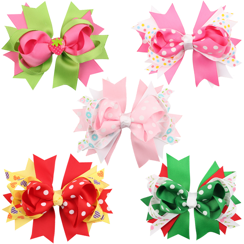 TWDVS COOL Kids Hair Clip Flower Hair Accessories Bow Knot hairgrip - Apparel Accessories - Photo 1