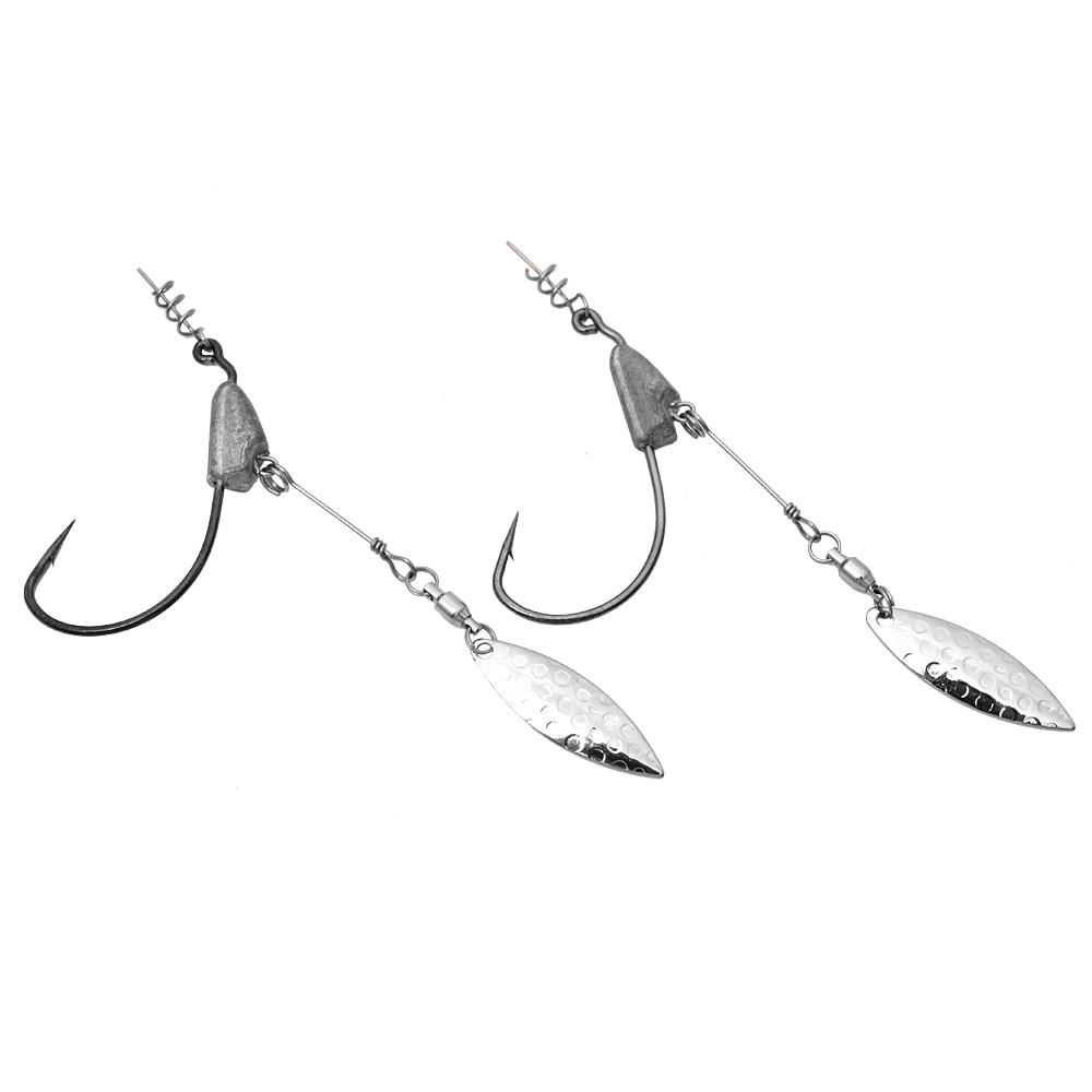 2 copë Jig-goditje me kokë të kokës 3/0 4/0 Shto grepin në - Peshkimi - Foto 3