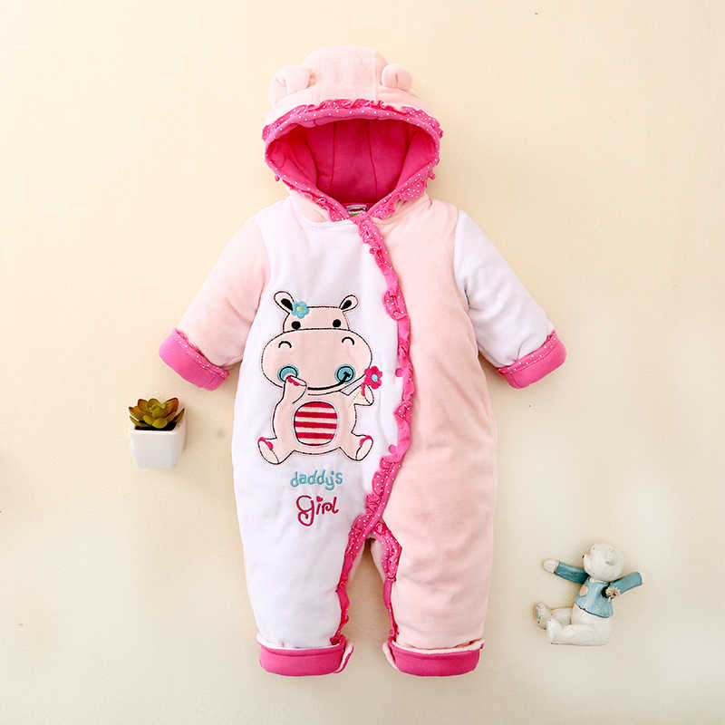 e9b8161bb0655 new 2019 autumn Winter infant Romper baby clothes newborn kids cotton  rompers baby girls Cartoon Animal jumpsuit baby Costumes