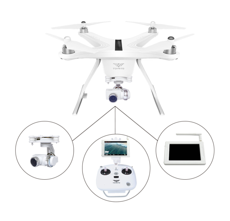 Rc Quadcopter Camera Rc-Drone 3axis-Gimbal Hubsan X4 Aerial Profession GPS FPV Monitor