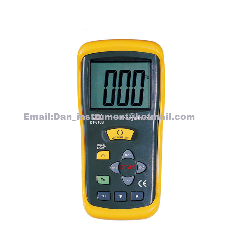 DT-610B thermometer portable pyrometer ,K type temperature probe dt 2856 photo touch type tachometer dt2856