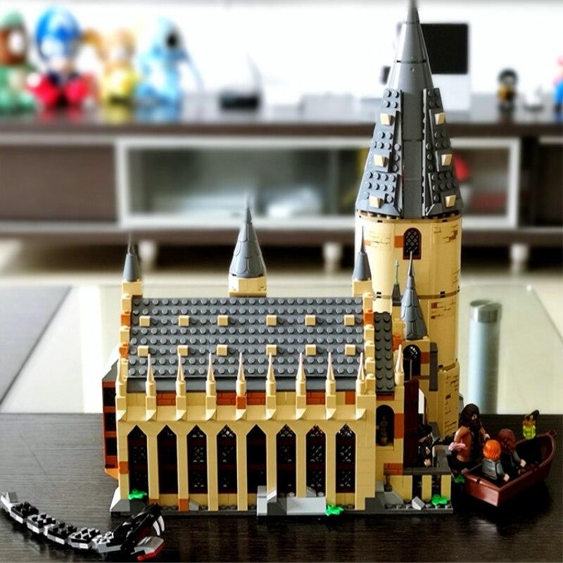 Lepin 16052 983pcs LegoINGlys Harri Potter Series Hogwarts Great Hall Building Blocks Brick Educational Toys Compatible
