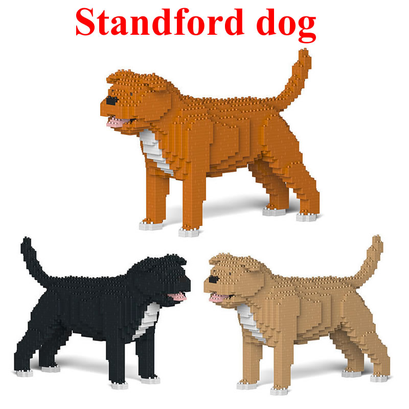 Jekca Stacking Blocks Standford Dog Assembled Toy Diy Model Dog