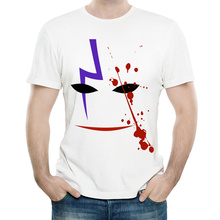 Anime Darker Than Black T Shirt White Color Mens Fashion Short Sleeve Darker Than Black T-shirt Tops Tees tshirt Casual T-shirt