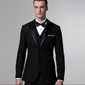 3 Pieces Black Suit Latest Coat Pant Designs Suit Men New Arrival Slim Fit Wedding Dress two Button Plus Size Men Suit 5XL-M Hot