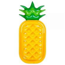 Pineapple Shape New Summer Beach Swimming Pool Float Mattress Inflatable Pineapple Lounge Seat Raft Mat Swimming Air Mattresses(China)