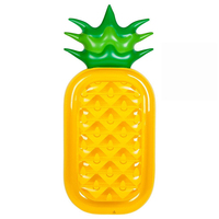 Pineapple Shape New Summer Beach Swimming Pool Float Mattress Inflatable Pineapple Lounge Seat Raft Mat Swimming Air Mattresses