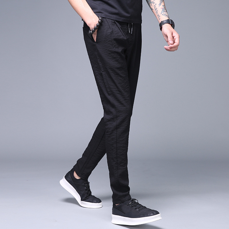 MRMT 2019 Brand Spring Summer New Men's Trousers Trim Casual  Pants For Male Thin Ice Silk Sweatpants Loose Trousers