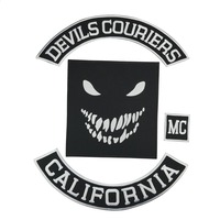 Devils Couriers California Vest MC Embroidered Patch Iron On Back of Jacket Patch EAST COAST Eco Friendly Stickers On Clothes
