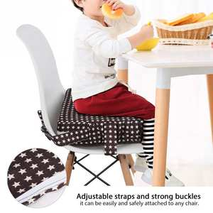 NEW Soft Baby Dining Cushion Adjustable Removable Increased High Chair Pad Cushion Kids Safty Washable Booster Seat Pad