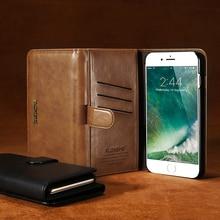 Floveme бизнес Ретро Королевский кожаный бумажник флип чехол для телефона iPhone 6 7 6S 7 Plus Samsung Galaxy S8 случае Чехол Сумочка