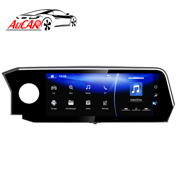AuCAR Android 12.3 Car Radio for Lexus ES 200 250 300 350 2018-2019 GPS DVD Player Touch Screen Multimedia Stereo Audio IPS BT