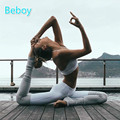 Beboy Running Tights Women Patchwork Yoga Pants High Elastic Fitness Leggings Breathable Gym Leggings Stretch Ballet Dance Pants