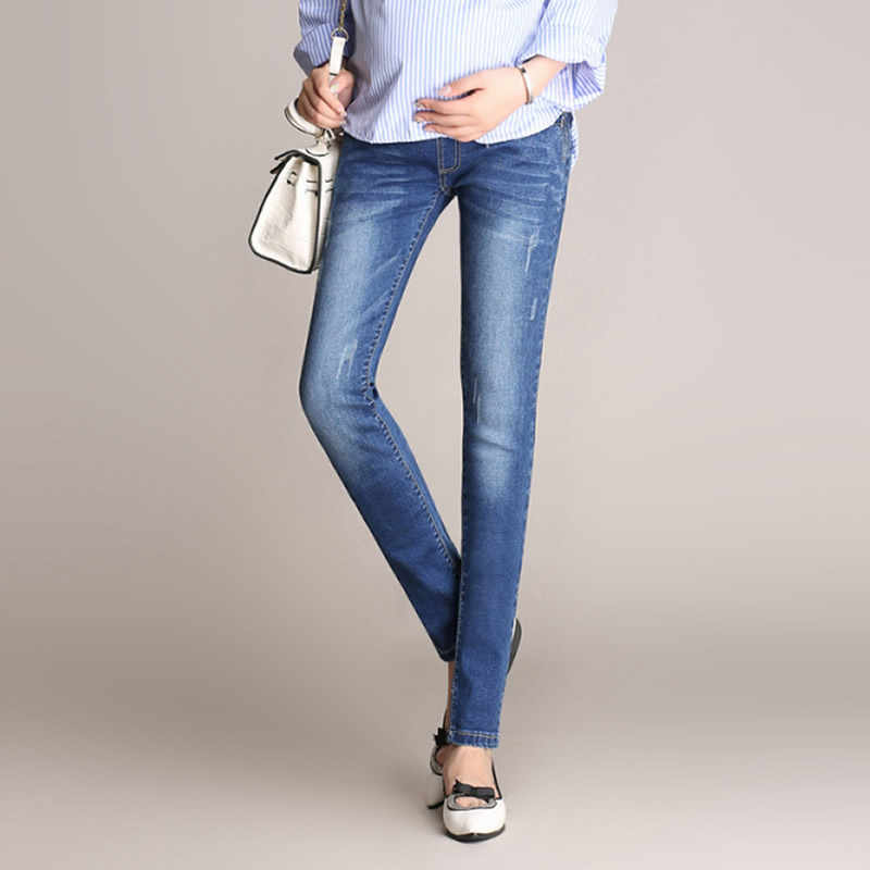 9da7925a6 ... 2018 Pregnancy clothes jeans Women High Waisted Sexy Maternity Jeans  Skinny
