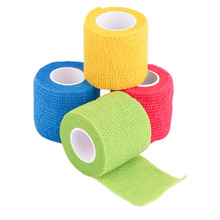 5cm*4.5m Non Woven Fabric Self-Adhering Bandage Wraps Elastic Adhesive First Aid Tape Stretch Elbow & Knee Pads Drop Ship waterproof bandage wraps elastic adhesive first aid tape stretch treatment medical elastic print self adhesive tapes