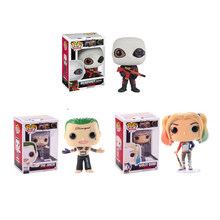 FUNKO POP Suicide Squad Harley Quinn The Joker DEADSHOT 10cm Vinyl action Figure Collectible Model Toy(China)
