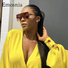 цена на Big Flat Frame Sunglasses Women Sexy Leopard Ladies Shades New 2019 Big Frame Sun Glasses Female UV400 Protection